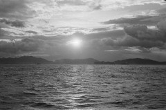 Sunset (spencerso) Tags: 西環碼頭 sea hongkong sunset 50mm leicalens leicacamera leica film rigid m3 kodak tx400