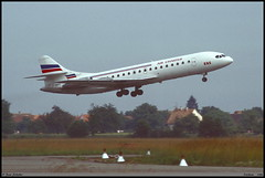 """CARAVELLE 10B3 Super B EAS """"AIR CHARTER"""" F-GDFZ 211 Entzheim juin 1988 (paulschaller67) Tags: caravelle 10b3 super b eas aircharter fgdfz 211 entzheim juin 1988"""