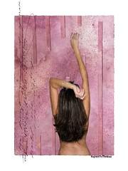 The Fragrance Of You (WayneToTheMax) Tags: portraitpinkfuchsiahairbrunettenikond750digitalartversestretchwomanfemalebackpainterly