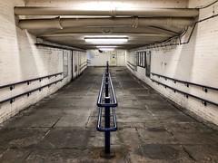 Rush Hour - Huddersfield (Mr_Pudd) Tags: railings iphonephotography huddersfieldstation huddersfield underpass subway iphone8plusbackdualcamera399mmf18