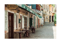 Szentendre Làngos Ceremony (Thomas Listl) Tags: thomaslistl color poetic idyllic szentendre hungary làngos bistro restaurant street town 100mm mundane ngc