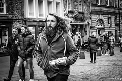 Movember (Cycling-Road-Hog) Tags: beard blackwhite candid canoneos750d citylife colour edinburgh monochrome people places royalmile scotland sigma1750mmf28 street streetphotography streetportrait style urban