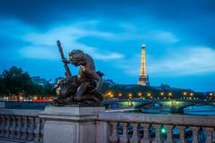 Alexandre III bridge - Paris (Thierry GASSELIN) Tags: d7100 pont bridge paris tour eiffel tower crépuscule dusk seine
