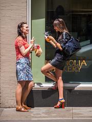 Girls in midtown (J Raga) Tags: olympus street 2013 police ny uro em5 40150mm