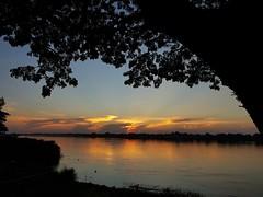 Sunset over Mekong 2018-11-16 1 (SierraSunrise) Tags: esarn isaan mekong mekongriver nongkhai phonphisai rays reflections rivers skies sky sunrays sunset thailand water