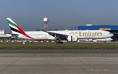 UAE_B77W_A6EQO_BRU_NOV2018 (Yannick VP - thank you for 1Mio views supporters!!) Tags: civil commercial passenger pax transport aircraft airplane aeroplane jet jetliner airliner uae ek emirates airlines boeing b777 777300 er extendedrange b77w a6eqo tripleseven t7 brussels airport bru ebbr belgium be europe eu november 2018 approach landing touchdown runway rwy 07l aviation photography planespotting airplanespotting airside