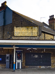 The Railway Coffee Tavern, South Woodford (London Less Travelled) Tags: uk unitedkingdom britain england london suburb suburbia suburban urban city woodford redbridge railway platform sign southwoodford underground tube publictransport coffee tavern