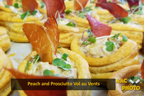 "peach Prosciutto Vol au vents • <a style=""font-size:0.8em;"" href=""http://www.flickr.com/photos/159796538@N03/45065165775/"" target=""_blank"">View on Flickr</a>"