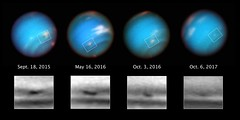 Hubble Sees Neptune's Mysterious Shrinking Storm (Sabri KARADOĞAN) Tags: nasa marshall space flight center msfc hubble telescope goddard gsfc solar system beyond esa european agency galaxy stars supernova neptune