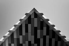 From Below, The Music Box, London, UK (bartekrutkowskiphotography) Tags: london uk southwark musicbox triangle architecture shapes geometry geometric minimal minimalism minimalistic stripes sky building sony alpha a7 a7iii
