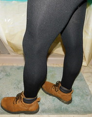 Black tights (lexar567) Tags: black tights legs boots shiny thigh calf