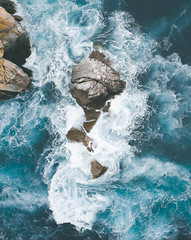 Le Bel Endormi (ThibaultPoriel) Tags: pointeduvan drone wave vagues ocean sea water view blue turquoise bretagne brittany france landscape nature outdoors