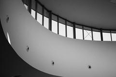 Where is my side (La caverne aux trésors) Tags: black white blackandwhite noir et blanc noiretblanc architecture archi perfect angle perfectangle curve courbe perspective reversed