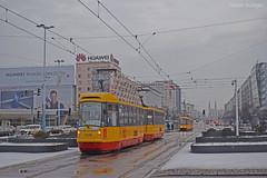 2096 + 2097 - 15 - 21.12.2018 (VictorSZi) Tags: poland warsaw varsovia transport tram tramvai publictransport winter iarna december decembrie nikon nikond5300