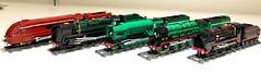 Big engines (Britishbricks) Tags: engine 440 282 462 lego train steam schoolsclass stlawrence flyingscotsman duchessofhamilton coronationclass a3 p2 br lms lner