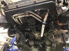 Underside of engine. (andrew edgar .......) Tags: subaru impreza wrx silver turbo awd car sydney blacktown