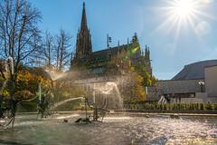 Basel, 1. November 2018 - am Tinguely Brunnen (karlheinz klingbeil) Tags: suisse water wasser sun schweiz brunnen tinguely switzerland city sonne stadt fountain gegenlicht basel kantonbaselstadt ch