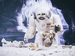 Luke Attacked by Wampa (Jezbags) Tags: luke attacked wampa starwars lego legos legostarwars lukeskywalker skywalker cave snow beast attack skeleton canon canon80d 80d 100mm macro macrophotography macrodreams macrolego toy toys help
