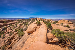Arches hiking (NettyA) Tags: 2017 archesnationalpark devilsgardentrail doubleoarchtrail sonya7r usa hike hiker hiking travel utah