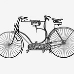 Tandem bicycle in vintage style thumbnail