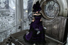 Lady of Winter (LiangScorpio) Tags: gown victorian butterfly winter lady silvianmoondesigns poem