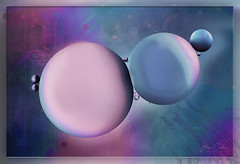 Interstellar - Oil and Water 8  [Explore] (NYRBlue94) Tags: interstellar oil water closeup macro colors colorful color blue purple round space abstract geometric