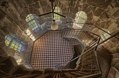 Round room in tower (Digikuvaaja) Tags: europe hdr ancient architectural architecture building castle chateau corridor curved descending empty entrance floor geometric grunge hall indoors interior lobby majestic medieval old perspective railing room round rundown spiral stair staircase stairs stairway steep steps stone turn twist wall
