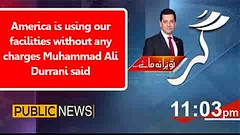America is using our facilities without any charges Muhammad Ali Durrani said (Zedflix) Tags: zedflix zflix live streaming news talkshows