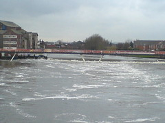 The Weir with the river in full spate (ke1th) Tags: castleford