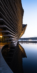Twilight in Dundee (louys:) Tags: valightshadowcolourportrait fuji xe3 xf18mmf2r va dundee architecture reflections lowlight primelens dof
