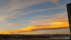 November 27, 2018 - Brilliantly lit lenticulars at sunrise. (David Canfield)