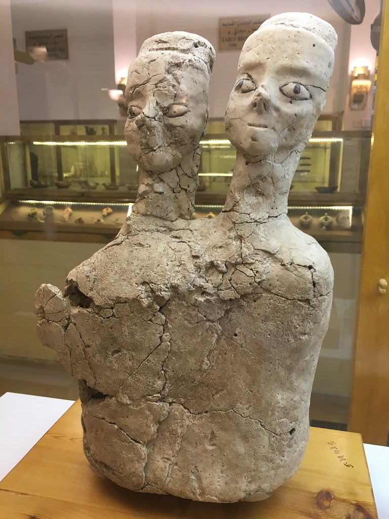 598d12d237f Ain Ghazal statues, considered the oldest figures made by man (8000-4000 BC