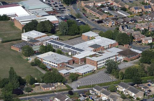 Stowmarket High School aerial