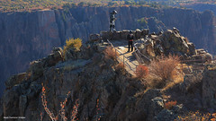 Pulpit Rock Overlook, South Rim Road, Grand Canyon of the Gunnison National Park, Montrose, Colorado, USA (Black Diamond Images) Tags: blackcanyonofthegunnisonnationalpark montrose colorado usa blackcanyon gunnisonnationalpark coloradolandscapes blackcanyonnationalpark blackcanyonofthegunnison landscapes westernusatrip2018 2018 panorama msice msicepanorama microsofticepanorama nationalparkservice precipice cliffs pegmatite precambriangneiss schistrock precambrian gneiss schist rock canond60 sigma1770 1770 sprucetreepoint echcanyon southrimroad southrimrd hwy347