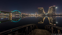 Reflections on the river Sava (deniob86) Tags: night nikon sava river reka refeksija reflection belgrade beograd hdr bracketing d7200 tokina 1120 long exposure serbia srbija bridge most novi