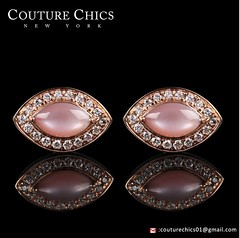 Genuine 0.90 Ct. Marquise Mother Of Pearl Diamond Stud Earrings 14K Rose Gold (couturechics.facebook1) Tags: genuine 090 ct marquise mother of pearl diamond stud earrings 14k rose gold