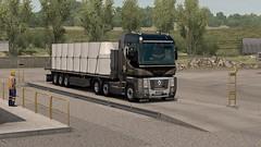 Renault Magnum 480 - Krone profiliner flatbed (defley.hyluan) Tags: renault truck magnum camion autoroute ets2