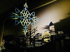 Toothpick Snowflakes Upon Us in Calgary (Clashmaker) Tags: calgary art