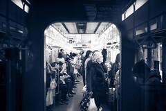 L1004548 (kaichung) Tags: street leica leicamp leicasummicron35mmf20 35mmf20 japan city cityscape architecture cityofjapan citylight streetphotography streetpeople streetleica monochrome blackwhite blackandwhite kyoto 窗戶 人 建築物 路 單色 京都