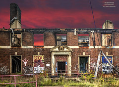 Who's Going To Paint My Red Skies Blue.... (DetroitDerek Photography ( ALL RIGHTS RESERVED )) Tags: allrightsreserved 313 abandoned fire damage kronk boxing kronkgym closed blight bleak dilapidated hdr 3exp warrensky sunset thomashearns lennoxlewis michaelmoorer vladimirklitschko hectorcamacho juliocesarchavez evanderholyfield historic lost building gymnasium training fight fighting detroitderek december 2018 champion boxer detroit michigan icon ruin midwest usa america motown motorcity canon 5d mkii digital eos
