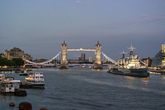 Tower Bridge & HMS Belfast, London [1524] (my.travels) Tags: london tower bridge belfast hms battle ship thames river city travel samsung nx2000 greatbritain unitedkingdom england evening gb