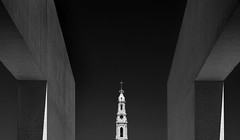 Fatima (HWHawerkamp) Tags: portugal fatima church catholic religion archicture graphics perspective abstract travel monochrome absoluteblackandwhite
