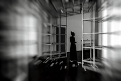 l i m i n a l i t y (Gaia Rampon) Tags: menomalechec'ero inpraiseofshadows wistfulness impermanence bittersweetfeeling liminality liminalspaces nonlieux colorblind colorless blackandwhite black white noiretblanc blancetnoir bw bnw geometry lines blur nonplaces neitherherenorthere street streetphotography streetphotographer nikkor 35mm surmodernité supermodernity inbetween interior inside building alone lonely