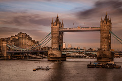 Merry Christmas to all of you (max tuta noronha) Tags: london londonsunset londonbridge redbus doubledecker merrychristmas river rio boats clouds nuvens cars buses omnibus