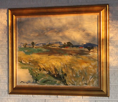 The rays of the setting sun makes an old painting more lively (sunsju) Tags: indoor painting