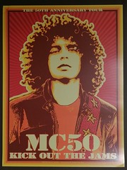 MC50 (lizard_stone) Tags: mc50 chuck sperry wayne kramer 50th anniversary kick out jams marcus durant kim thayil billy gould brendan canty flex wien vienna offset poster idealposters slightlydamaged 50thanniversary
