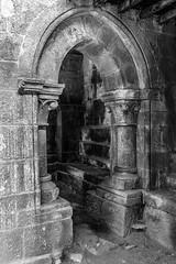 02_Monasterio de Santa Cristina (5)-Editar (José Miguel Soguero) Tags: bn bw galicia ribeirasacra romanico portada pórtico monasterio monasteriodesantacristina iglesia romanic churchportic