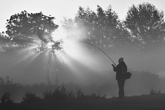 Fishing In The Fog (Ed Thorn) Tags: fishing angler dedham river stour