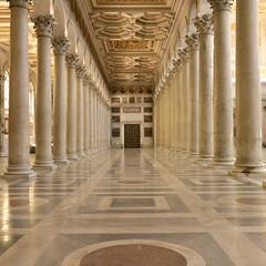 Marble mirror (cluffie598) Tags: sanpaolofuorilemura roma rome italia italy romancatholic church marble reflection column