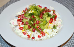 Feta, Avocado, Pomegranate, Dill (Tony Worrall) Tags: food foodie foodophile foodstuff foodpictures foodporn picsoffood pics picturesoffood cheese avocado salad veggie nice healthy dill eat eaten taste tasted freshtaste delicious yummy yum buy sell sale bought item stock ilobsterit instagram cooking cookery make lunch ingredients menu grub plate dish plated pile chow